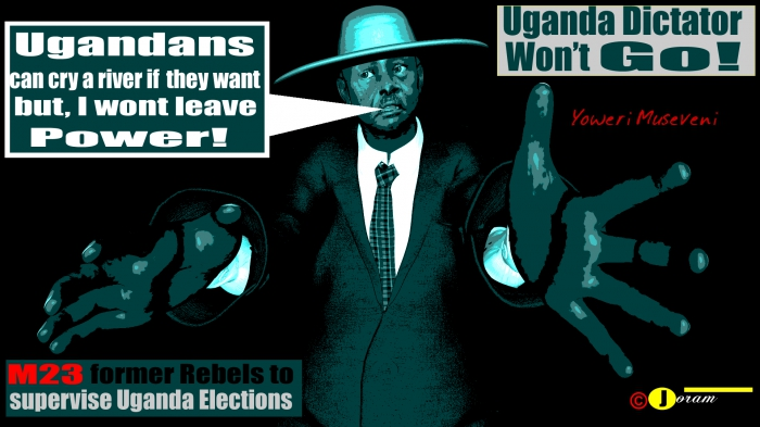 africa, africa's most evil person, african art, african dictators, Amama Mbabazi, banyoro, besigye, black art, buganda, Bukenya, busoga, Byanyima, congo drc, Corruption, Dictator Museveni, dictator yoweri museveni, Dictators, dr congo, enemies, free uganda, Gen david sejjusa, genocide, kaguta museveni, kizza besigye, Lukyamuzi, Mao, museveni, museveni is HIV Positive, National Resistance Movement, nrm, Ottunu, Sejusa, social media, somalia jihad, uganda, uganda crime, uganda dictator, uganda now, uganda politics, Uganda thieves, war crimes, yoweri museveni